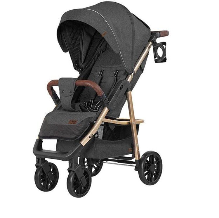 Коляска BABY TILLY T-166 Eco Midnight Gray